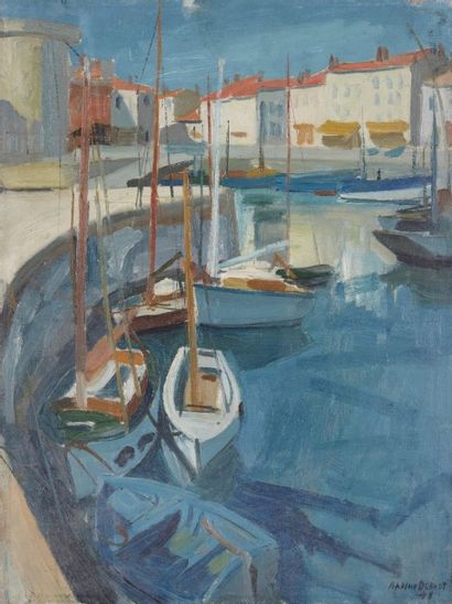 Maxime DUBAUT (Paris 1920 - 1991) La Rochelle Huile sur toile 61 x 46 cm Signé et...