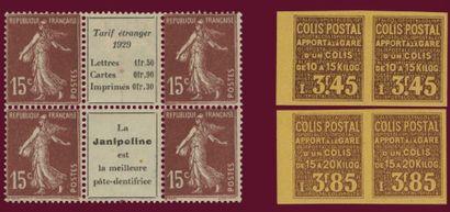 Un classeur composé de timbres avec bandes...