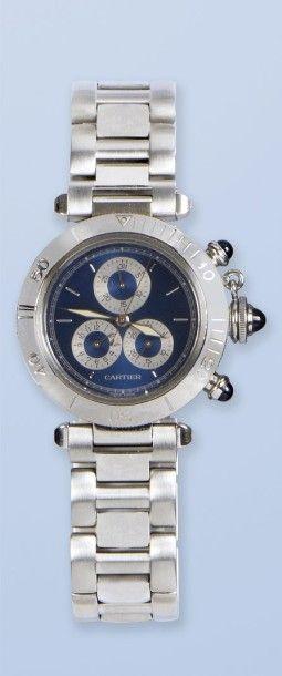 Bracelet montre en acier de Marque CARTIER,...