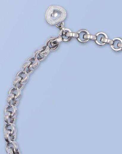 Bracelet souple en or gris 18 K, 750 millièmes,...