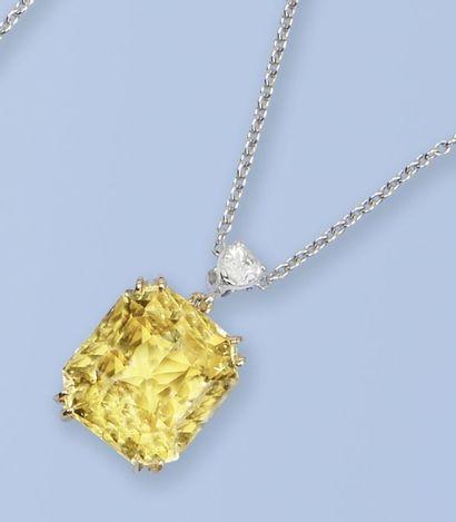 Collier en or gris 750 millièmes, mailles...