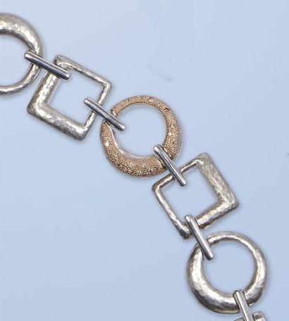 Bracelet souple en argent, 925 millièmes....