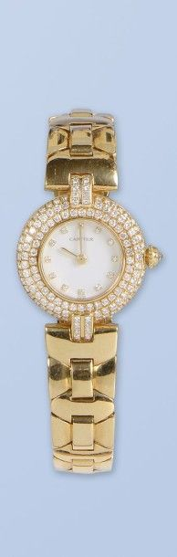 Bracelet montre pour femme, en or jaune 18 K, 750 millièmes, de Marque CARTIER,...