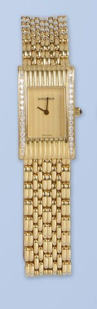 Bracelet montre pour Femme, en or jaune (750...