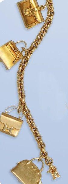 Magnifique bracelet souple de Marque HERMES,...