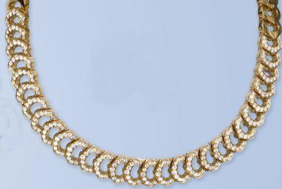 Magnifique collier souple en or jaune 18...