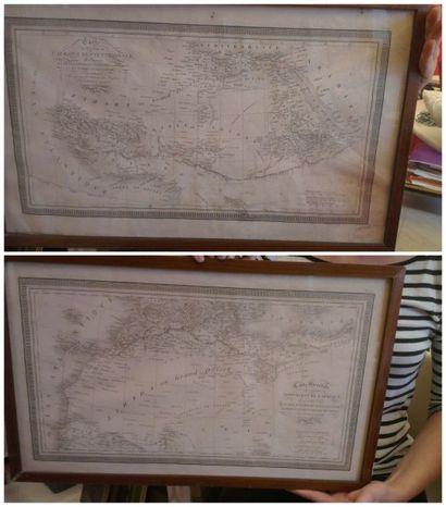 Cartes. Carte d'une partie de l'Afrique septentrionale......