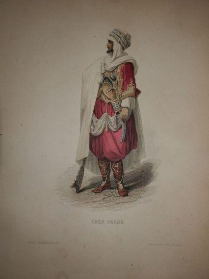 Alger - Manuscrit illustré. Manuscrit à la...