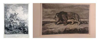 [Gravure - PARROCEL (Charles)]. Grande lithographie...