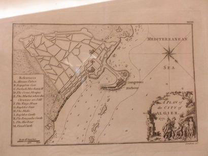 Gravure - ANDREWS (J.). Plan d'Alger gravé:...