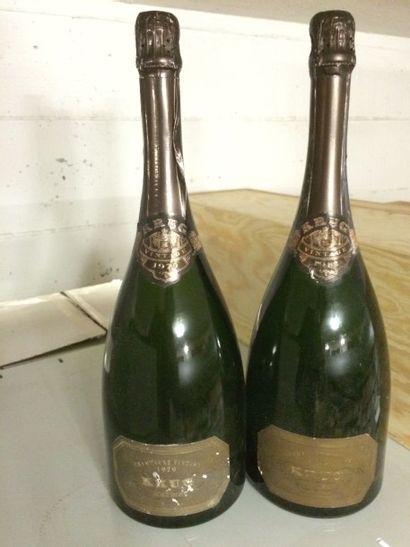 2 Magnums CHAMPAGNE Krug 1979