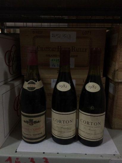 """5 Bouteilles CORTON """"Renardes"""", Parent 1982 (+ 1 Aloxe-Corton 61 Gruber)"""