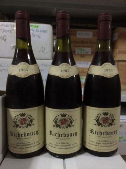 3 Bouteilles RICHEBOURG, D. Mugneret 1985...