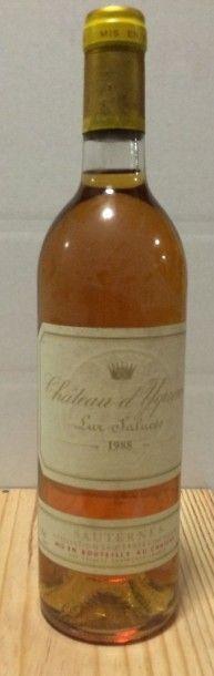 1 Bouteille CH. D'YQUEM, 1° cru supérieur Sauternes 1988 (elt)