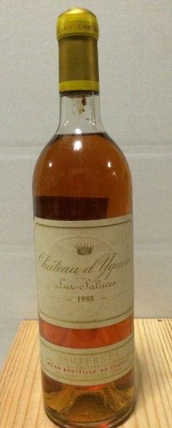 1 Bouteille CH. D'YQUEM, 1° cru supérieur Sauternes 1988 (LB)