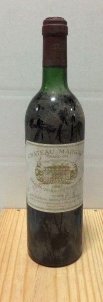 1 Bouteille CH. MARGAUX, 1° cru Margaux 1981...