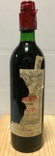 1 Bouteille PETRUS, Pomerol 1984 (lambeaux...