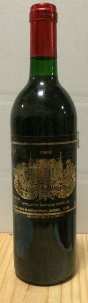 1 Bouteille CH. PALMER, 3° cru Margaux 1989...