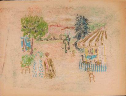 Jules CAVAILLÈS (Carmaux 1901 – Épineuil 1977) Paysage et personnages Lot de 32 oeuvres...