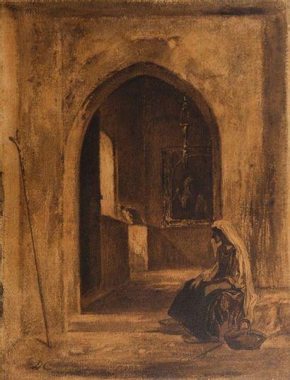 Attribué à Alexandre Gabriel DECAMPS (Paris 1803 – Fontainebleau 1860)