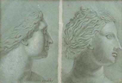 Domenico ZAMPIERI dit le Dominiquin (Bologne 1581 – Naples 1641) Feuille d'étude...