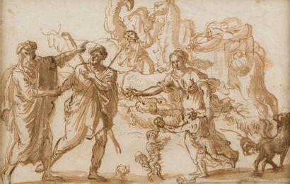 Attribué à Salvatore CASTIGLIONE (Gênes 1620 - après 1676)
