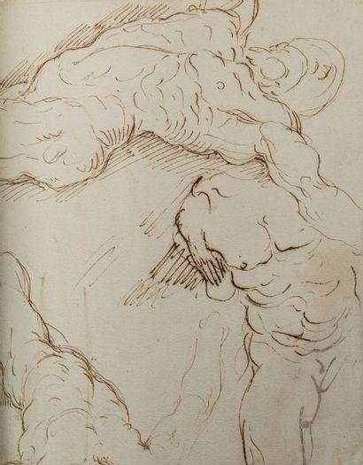 Jacopo NEGRETTI, dit PALMA le jeune (Venise 1544 - 1628) Recto: scène mythologique...