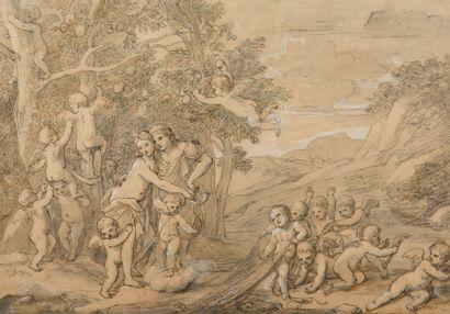 Ecole française du XVIIème siècle reprise au XVIIIème siècle