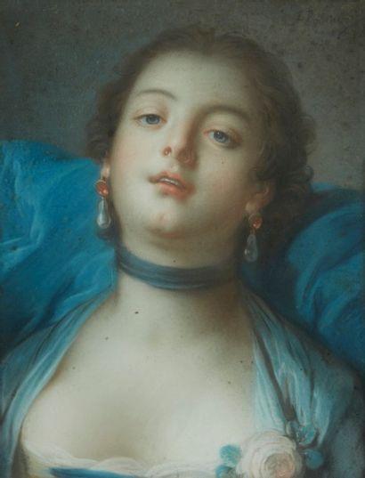 Ecole ITALIENNE du XVIIIème siècle dans le goût de Pietro ROTARI  La voluptueuse...