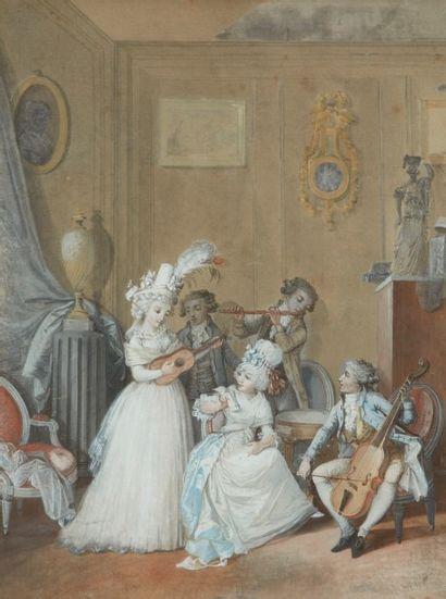 Attribué à Jean Baptiste MALLET (Grasse 1759 - Paris 1835)