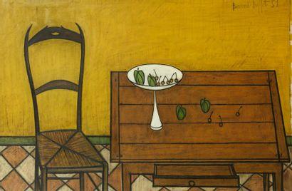 Bernard BUFFET (1928 - 1999)<br>Table et chaise, 1951
