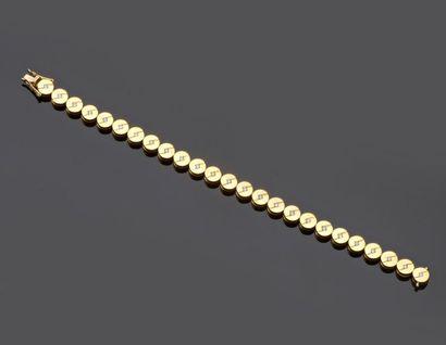 Bracelet en or jaune 750 millièmes composé...