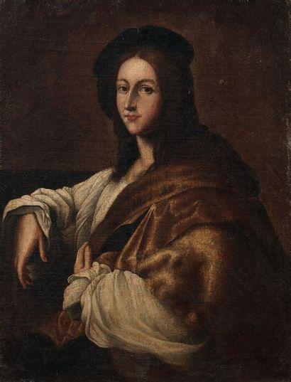 Ecole ITALIENNE du XVIIème siècle, suiveur de RAPHAEL (1483-1520) Portrait de jeune...