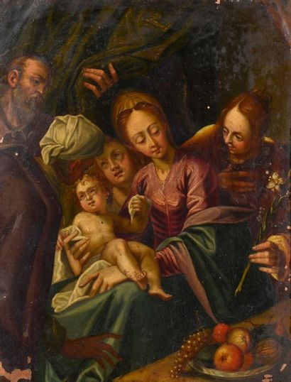 Ecole de PRAGUE du XVIIème siècle, suiveur de Hans von AACHEN (1552-1615) La Sainte...