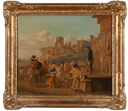 Ecole FRANCAISE de la fin du XVIIIème siècle, d'après Karel DUJARDIN (1626-1678)...