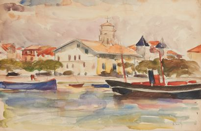 Albert COSTE (Marseille 1895 - 1985)  Paysages...