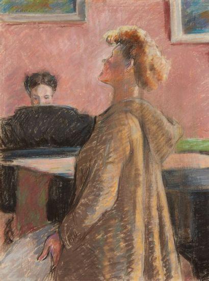 Albert COSTE (Marseille 1895 - 1985)  Chanteuse...
