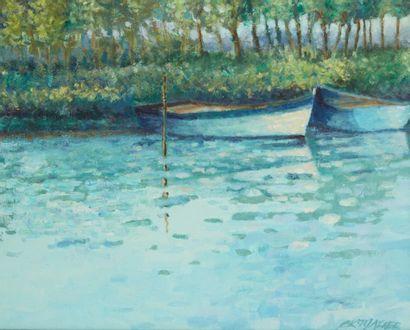 MAZIER (Actif au Xxe siècle)  Les barques...