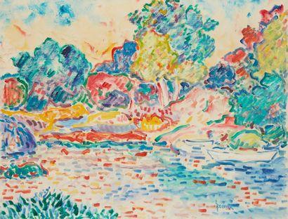 Amand BOUVIER (1913-1997)  Canal de Rosé...