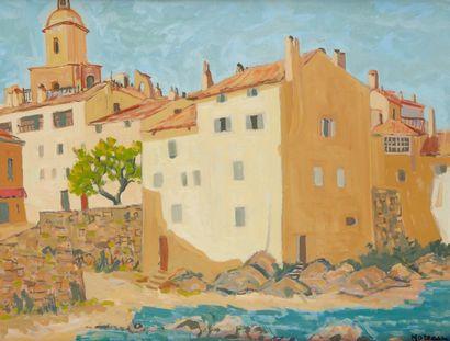 J MOREAU (Actif au Xxe siècle)  Saint Tropez...