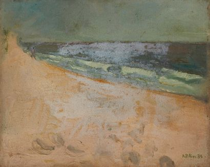 Andrée POLLIER (1916-2009)  Dune et mer,...