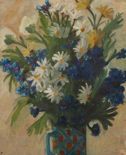 Andrée POLLIER (1916-2009)  Bouquet de fleurs,...