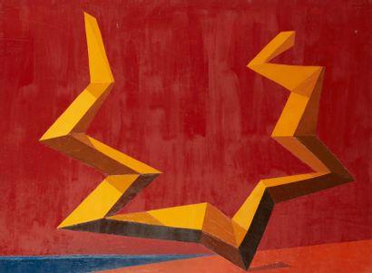 Andrée POLLIER (1916-2009)  Le temps jaune...