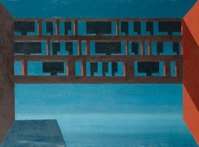 Andrée POLLIER (1916-2009)  Venise, le pont...