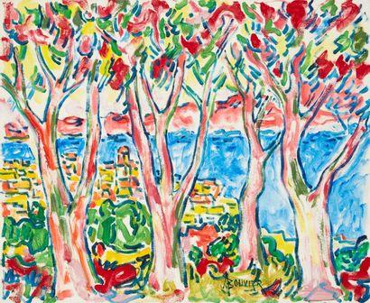 Amand BOUVIER (1913-1997)  Les arbres roses...