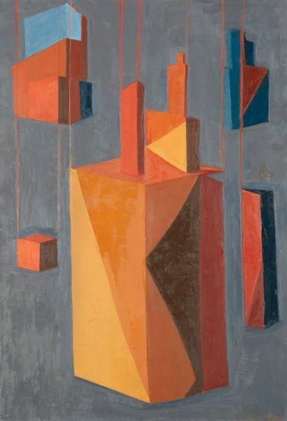 Andrée POLLIER (1916-2009)  Les maisons fermées...