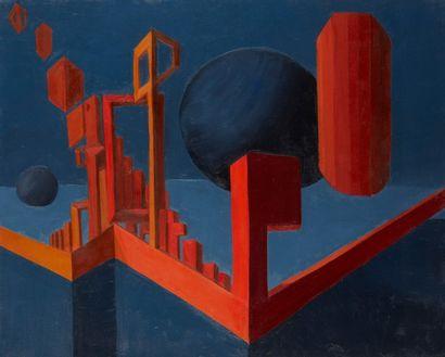 Andrée POLLIER (1916-2009)  La jetée rouge...