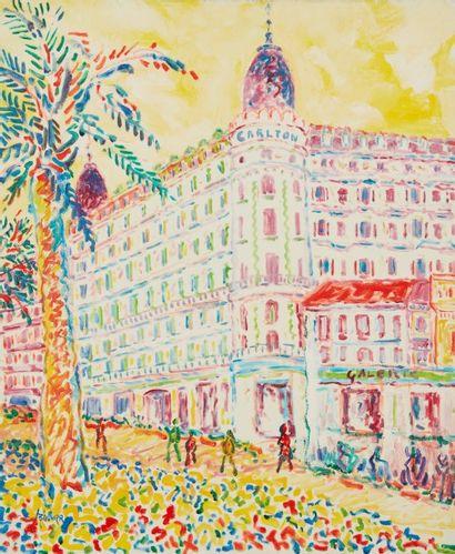 Amand BOUVIER (1913-1997)  Le Carlton, Cannes...