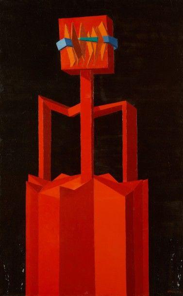 Andrée POLLIER (1916-2009)  L'espagnol brûlé,...