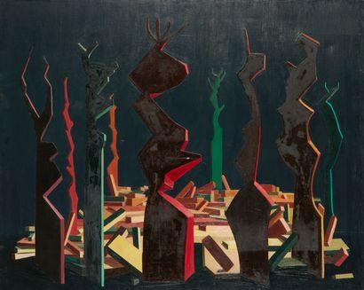 Andrée POLLIER (1916-2009)  Les grandes pierres...